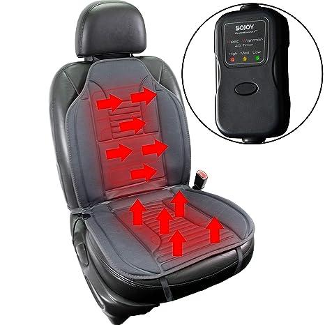 Sojoy Universal 12V Heated Car Seat Heater Cushion Warmer High Medium Low Temp