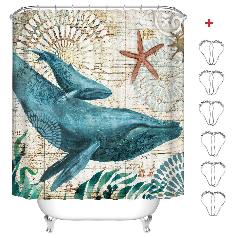 Pfau, 180 x 200 cm MIN-XL Duschvorhang Anti-Schimmel Textil Waschbar Anti-Bakteriel Badvorh/änge 3D Wasserdicht Duschvorh/änge mit 12 Edelstahl Duschvorhangringe f/ür Badezimmer
