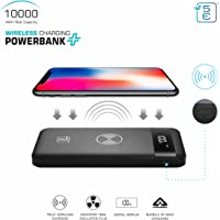 5E Wireless Charging POWERBANK + | 10000 MAH | BIS Approved Power Bank | 3 Input and Dual Output (Midnight Black)