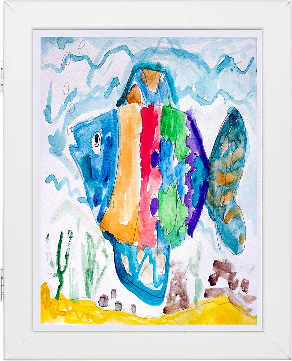 Wall and Tabletop Display Home or Office 8.5x11 White Art Frames Children Art Projects Set of 2 Schoolwork Front Opening for Easy Showcase Great for Kids Drawings and Artworks
