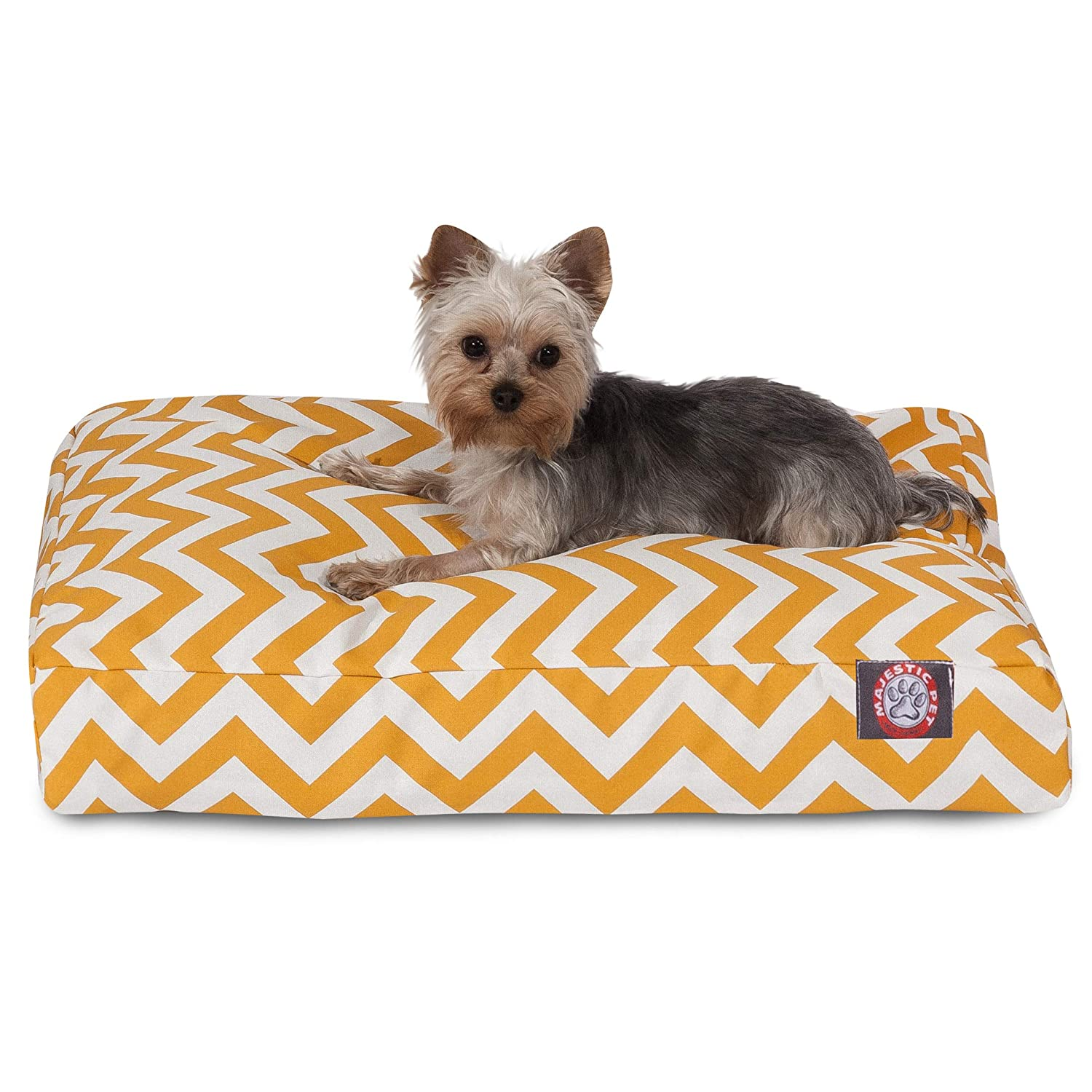 Yellow SMajestic Pet G  Chevron Small Rectang indoor Outdoor Pet Dog Bed with Remable Wasable Cover Products