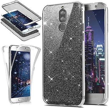HMTECH Huawei Mate 10 Lite Funda Bling Glitter Diamante Silicona ...