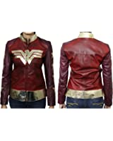 Ultimo Fashions Wonder Woman Gal Gadot Waxed Diana Prince Leather Jacket