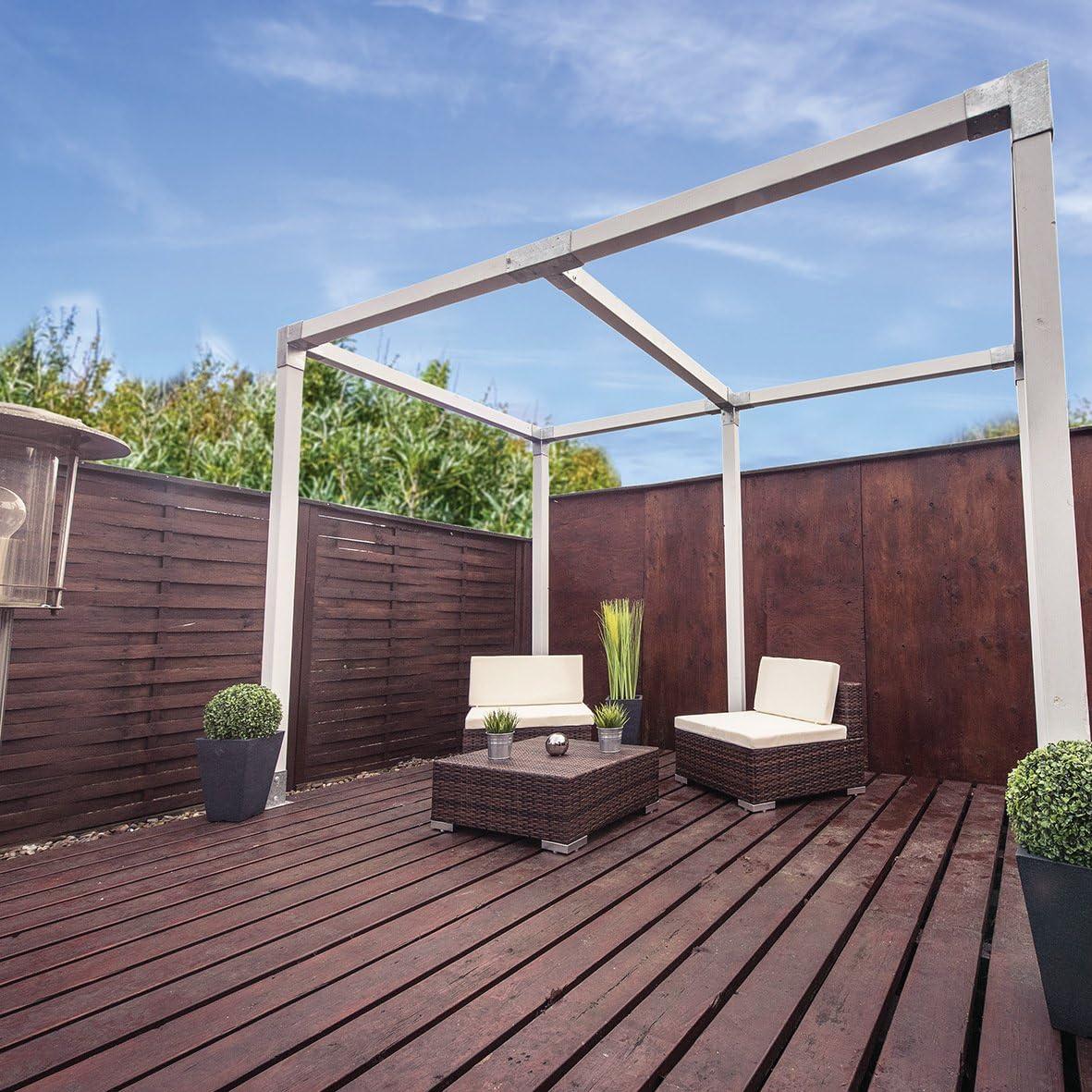 Connex postes esquina doble, madera, 90 x 90 mm, 1 pieza, hv4244: Amazon.es: Bricolaje y herramientas