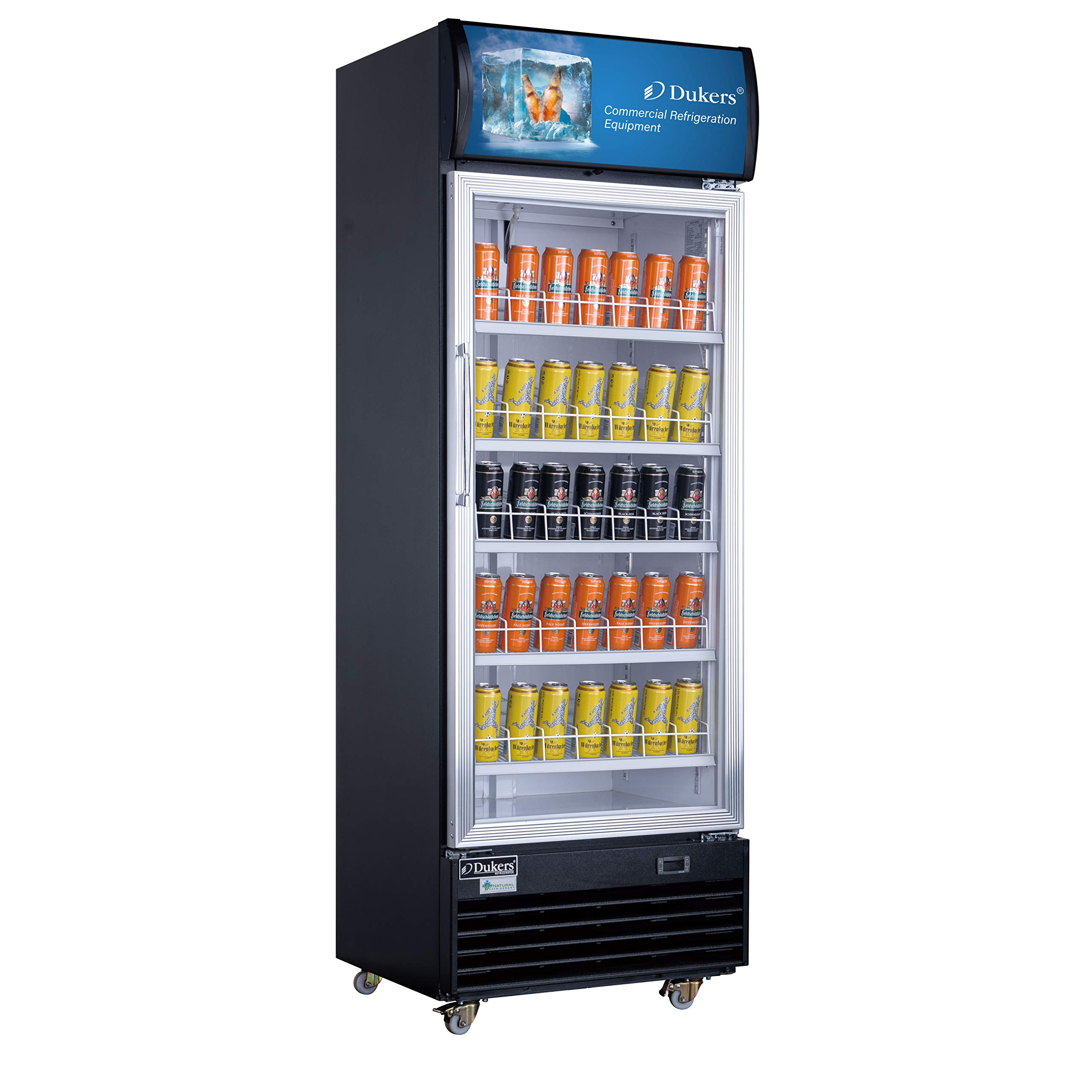 Dukers LG-430 15.1 cu. ft. Commercial Display Cooler Merchandiser Refrigerator by Dukers Appliance USA