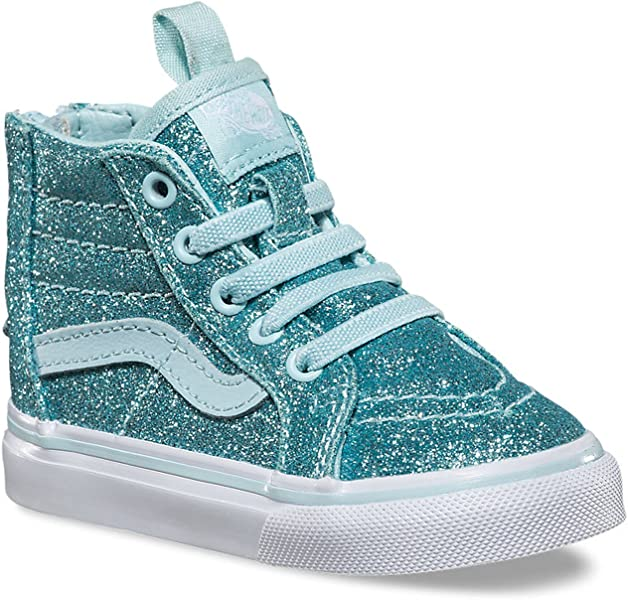 05dee50cd338 Vans Girls  Sk8-Hi Zip - K Blue 4 M Infant