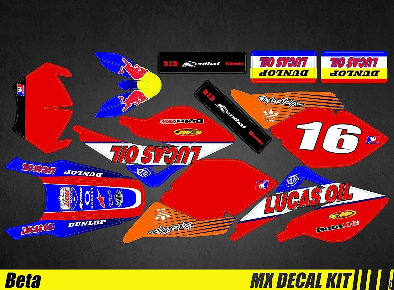 Kit Déco Moto para / MX Calcomanías Kit para Beta RR 50 - Lucas Aceite