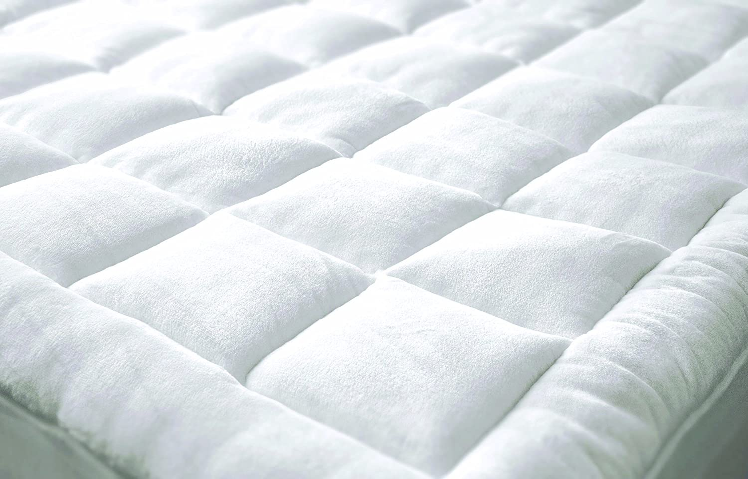 P&R Bedding Ultrasoft Microplush White Mattress Pad in Various Sizes