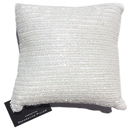Amazon Nicole Miller Chevron Beaded Decorative Toss Pillow Gorgeous Nicole Miller Decorative Pillows
