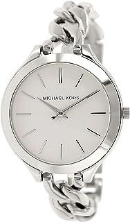 235193521abe Michael Kors Slim Runway White Dial Stainless Steel Ladies Watch MK3279