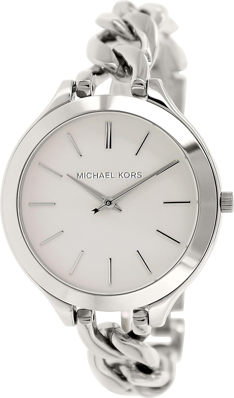 5929e7db541c Amazon.com  Michael Kors Slim Runway White Dial Stainless Steel Ladies  Watch MK3279  Michael Kors  Watches