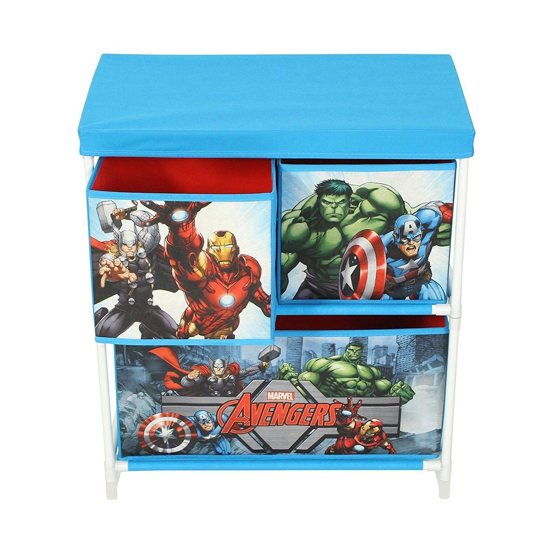 Graceful Marvel Avengers Kids Toy Storage Unit, Fabric, Blue 60 x 53 x 30 cm