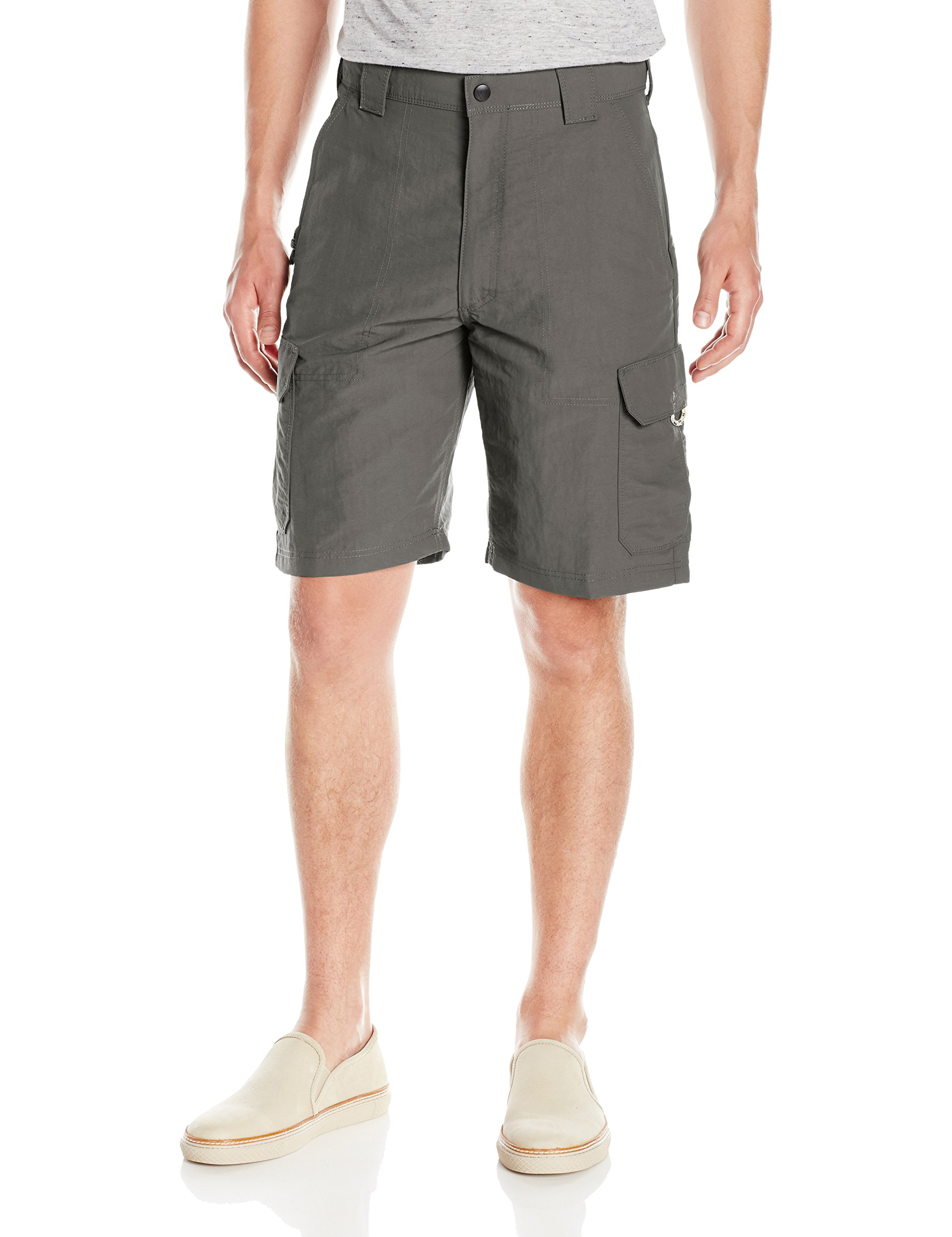 Wrangler Men's Authentics Outdoor Nylon Cargo Short, Asphalt, 33