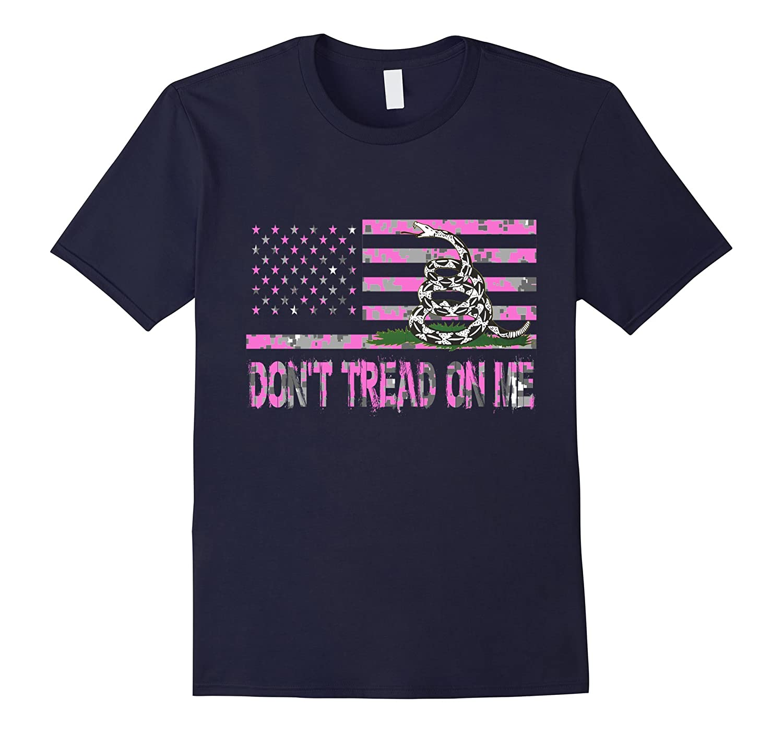 Dont Tread On Me Girl Pink Camo Second Amendment DTOM GUN