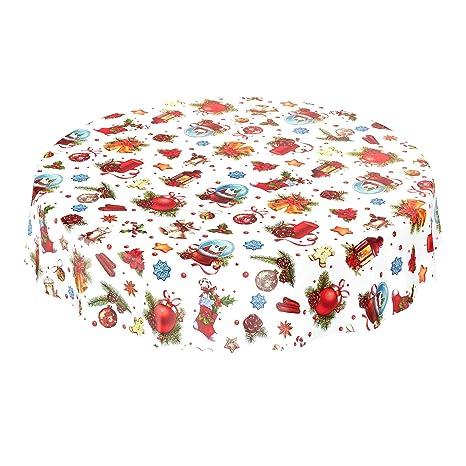 100 x 140 cm Nappe en toile cir/ée au m/ètre lavable Plastique taille au choix lisse motif /à pois//blanc rouge multicolore