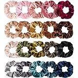 Whaline Hair Scrunchies Velvet Hair Bobble Elastics Hair Bands Soft Hair Ties for Women and Girls (20 Colors)