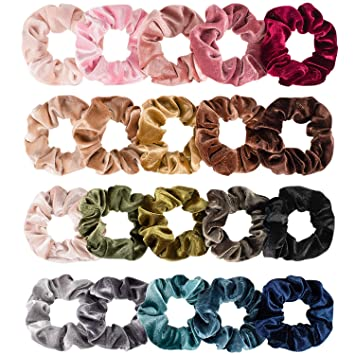 10 Stück Glossy Velvet Hair Haargummis elastisches Haarband Pferdeschwanz