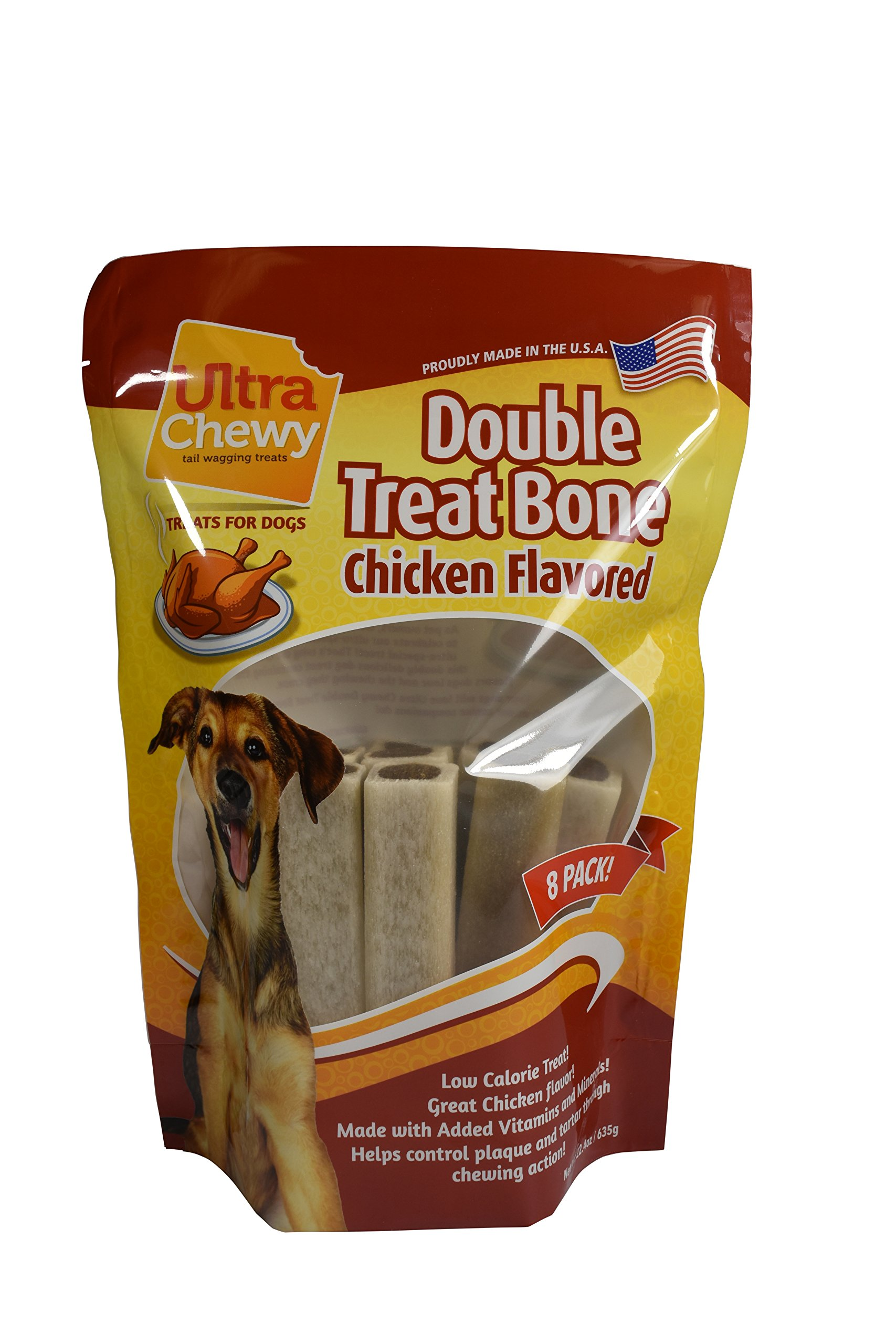 Ultra Chewy Chicken Flavored Double Treat Bone Value Pack (Includes 2 Packages)