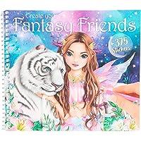 Depesche 11164 TOPModel Fantasy - kleurboek Create your Fantasy Friends, kleurboek met 24 pagina's, incl. 375 stickers…