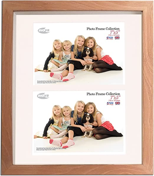 Brushed Large Silver Triple App 6x4 x 3L Inch Inov8 British Made Picture//Photo Frame Single