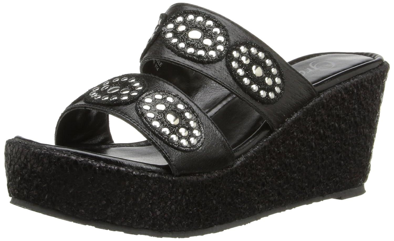 Grazie Women's Rondee Wedge Sandal B00JH4H15M 11 B(M) US|Black