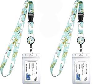 2-Pack Cruise Lanyard & Waterproof ID Key Card Holder Clip. Matching Retractable Badge Reel. Bonus Travel Organizer Bag. Essential Cruise Ship Accessories. Llama & Cactus