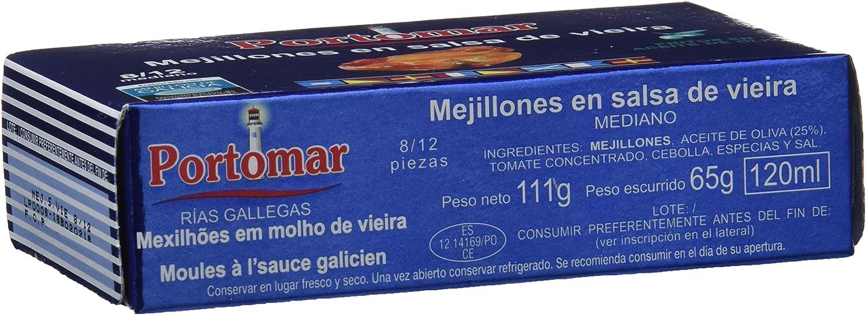 Mejillones de las Rías Gallegas en salsa de vieira -8-12 pzs/lata ...
