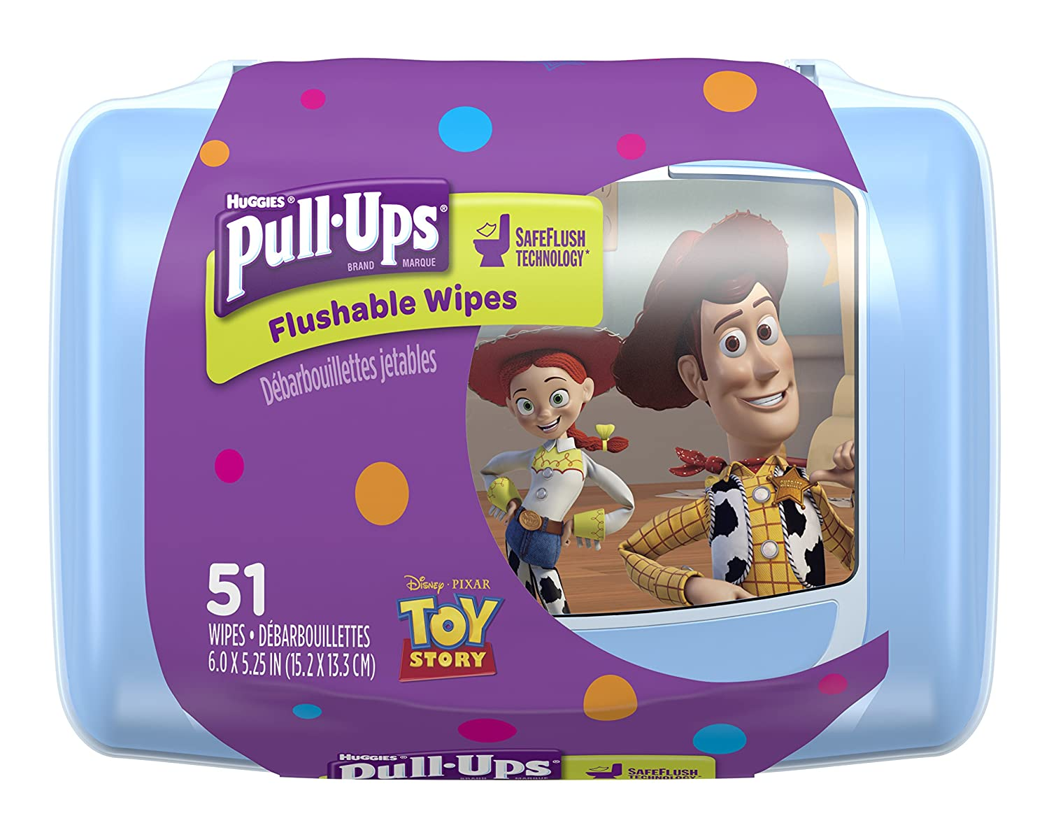 Pull Ups Flushable Moist Wipes Tub, 51-Count 3592664