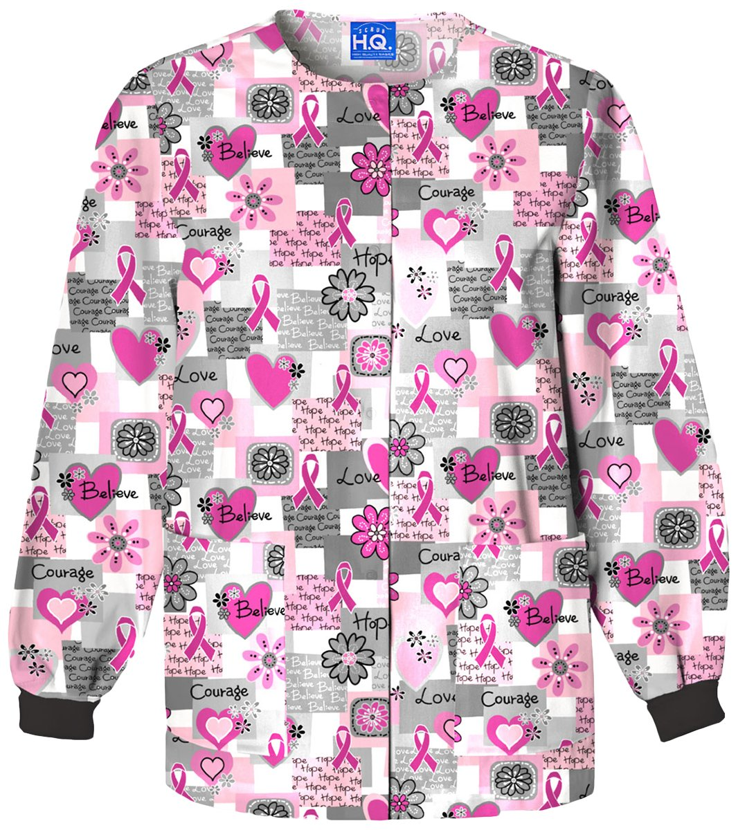 Cherokee Women's Snap Front Warm-Up Jacket_Words of Love_XXXX-Large,4350