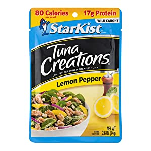 StarKist Tuna Creations Lemon Pepper, 2.6 oz pouch (Pack of 12) (Packaging May Vary)
