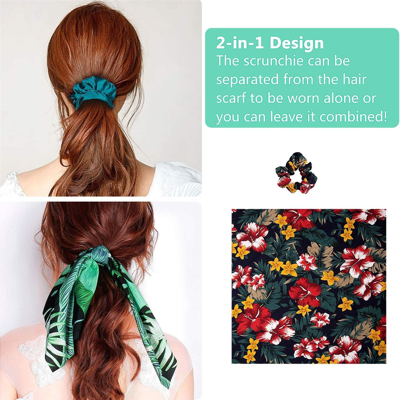B Pa/ñuelos para el Pelo Comius 8 Pcs Pa/ñuelo para el cabello Scrunchies Bandas El/ásticos Del Pelo Multi Patron Bufanda Cuello Accesorios Pelo Mujer Chica