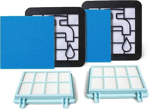 MI:KA:FI - Juego de 2 filtros para aspiradora Philips PowerPro Compact y Marathon Compact (similar a FC8010/01): Amazon.es: Hogar
