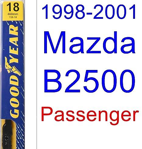 1998 – 2001 Mazda B2500 hoja de limpiaparabrisas de repuesto Set/Kit (Goodyear limpiaparabrisas