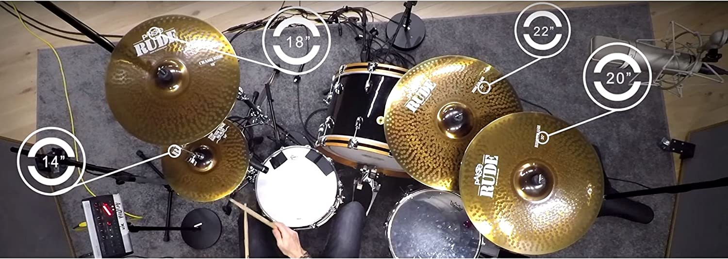Paiste RUDE Cymbal Pack with Free 18 Inches Crash