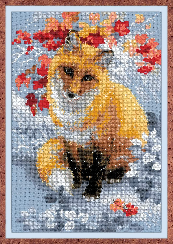 Riolis Fox 14 Count Cross Stitch Kit, 8.25 x 11.75 8.25 x 11.75 R1510