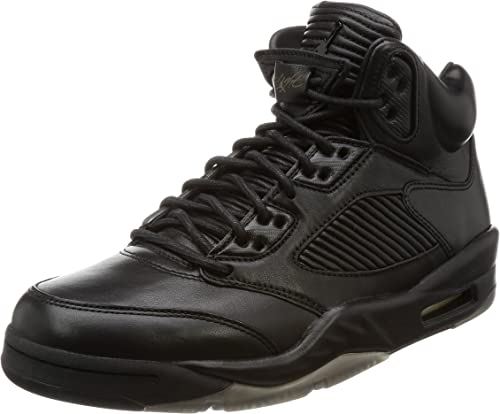 | Nike Mens Air Jordan 5 Retro Premium NoirNoir