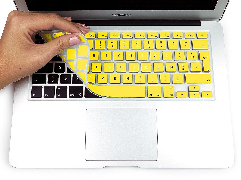 MyGadget Protezione Tastiera AZERTY Fino al 2016 Silicone per Apple MacBook Air 13 PRO//Retina 13 /& 15 Oro Francese - Copertura Sottile