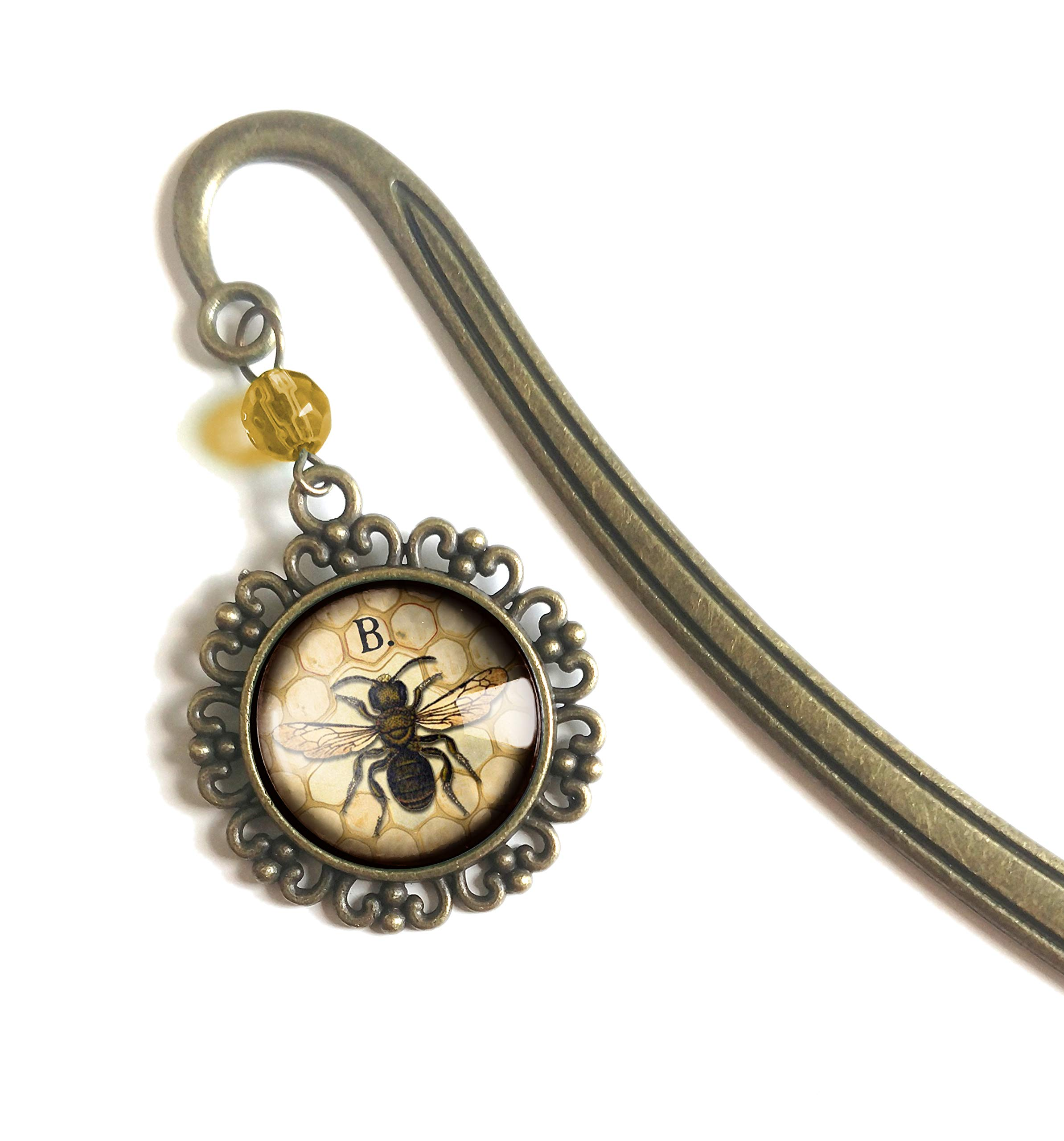 Honey Bee brass bookmark