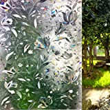 LEMON CLOUD Window Film 3D No Glue Static Decorative Privacy Window Films for Glass 23.6in. by 157.4in