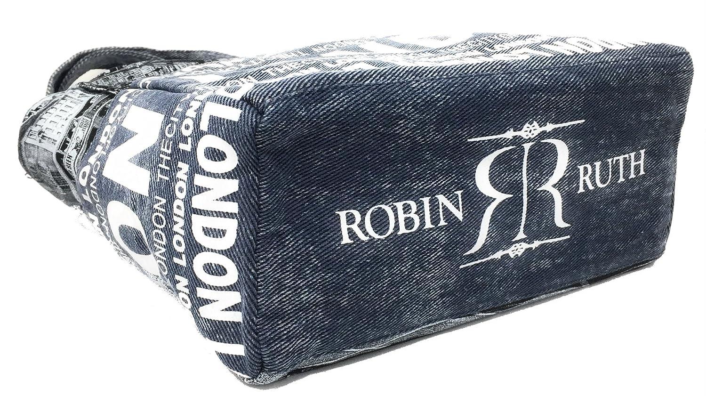 Robin Ruth Autobus photo de Londres Marine Sac Bleu Shopper