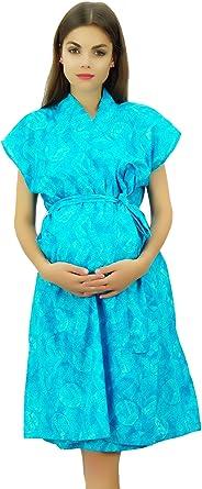 Bimba Bata De Maternidad De Algodón Encubrimiento De Enfermería Con Botones Laterales Hombro Azul - 52: Amazon.es: Ropa y accesorios
