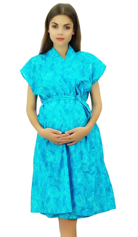 Bimba Bata De Maternidad De Algodón Para Mujer Con Botones En El Hombro: Amazon.es: Ropa y accesorios