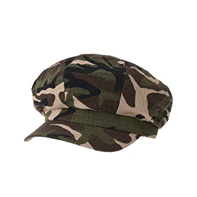 5e80c38f30a WITHMOONS Newsboy Hat Camouflage Military Pattern Beret Cap TR3941 (Brown)   Amazon.co.uk  Clothing