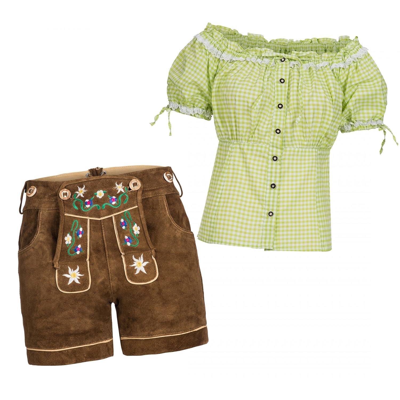 f9a50e2a1d51 Damen Lederhose Kurz - Kurz Trachtenlederhose für Frauen- 5 Pocket -Echt  Wild Leder-Kurze Trachtenlederhose-Ledershorts -Damenshorts ...
