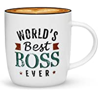 Gifffted World's Best Boss Ever Coffee Mug, Office Gift for Best Boss Birthday Anniversary Gifts, Scratched Vintage Letters, Ceramic, 13 oz Cup