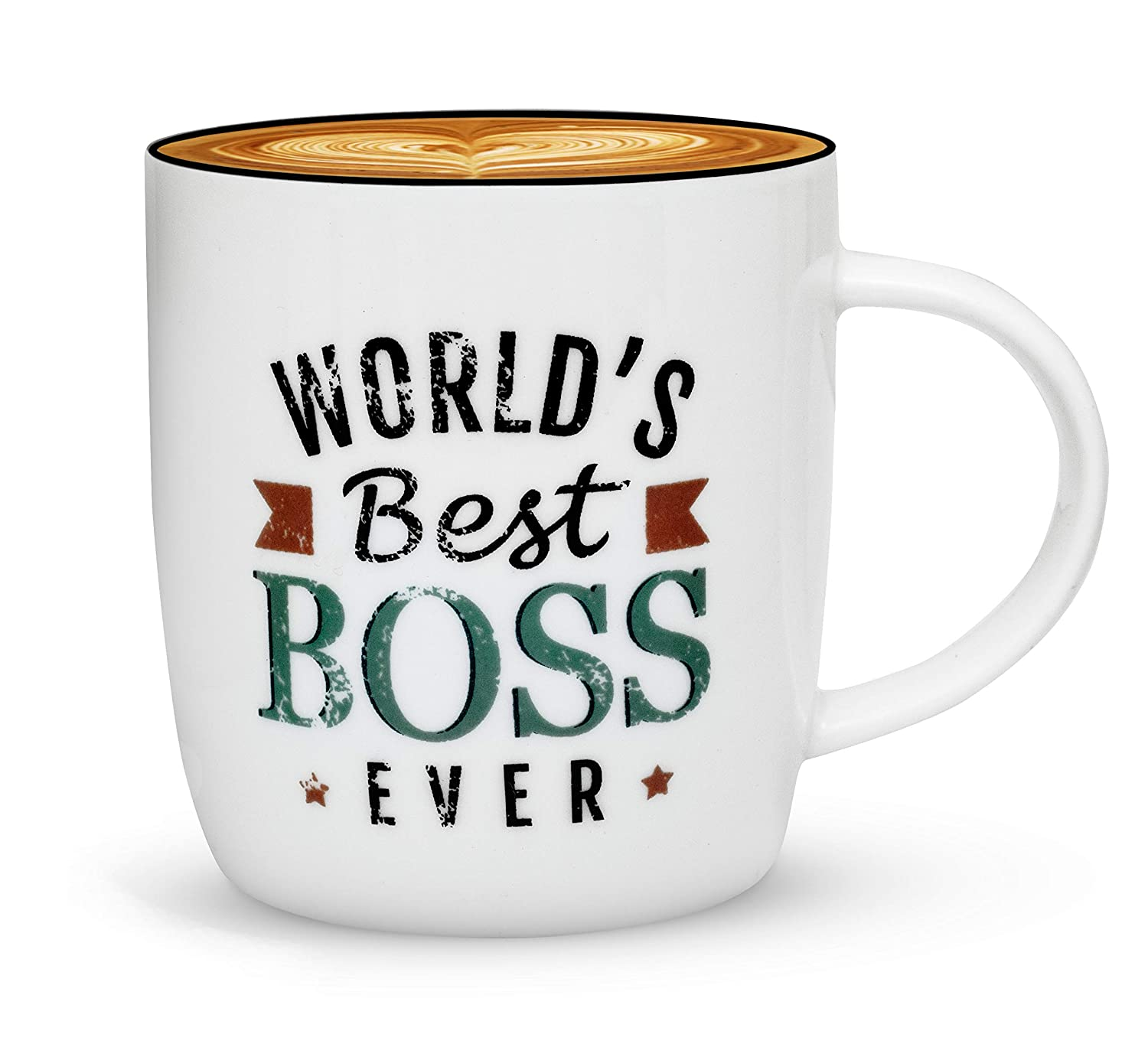 Buy Gifffted The Worlds Best Boss Ever Coffee Mug Bosses Day Gifts Ideas Christmas Present For My Greatest Boss Male Or Female Men Women Office Gift Mugs Birthday Leaving Vintage Cup 13