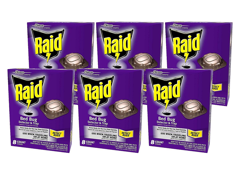 Amazon.com : Raid Bed Bug Detector & Trap, 8 CT (Pack - 6) : Garden & Outdoor