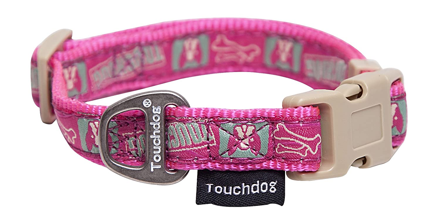 touchdog Caliber Designer Embroidered Fashion Pet Dog Leash and Collar Combination