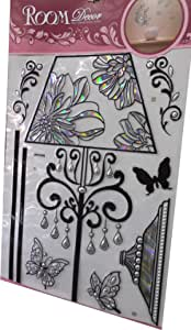 Sticker Walls 3D Style Decorative Black with Metallic Silver Code HTL1002