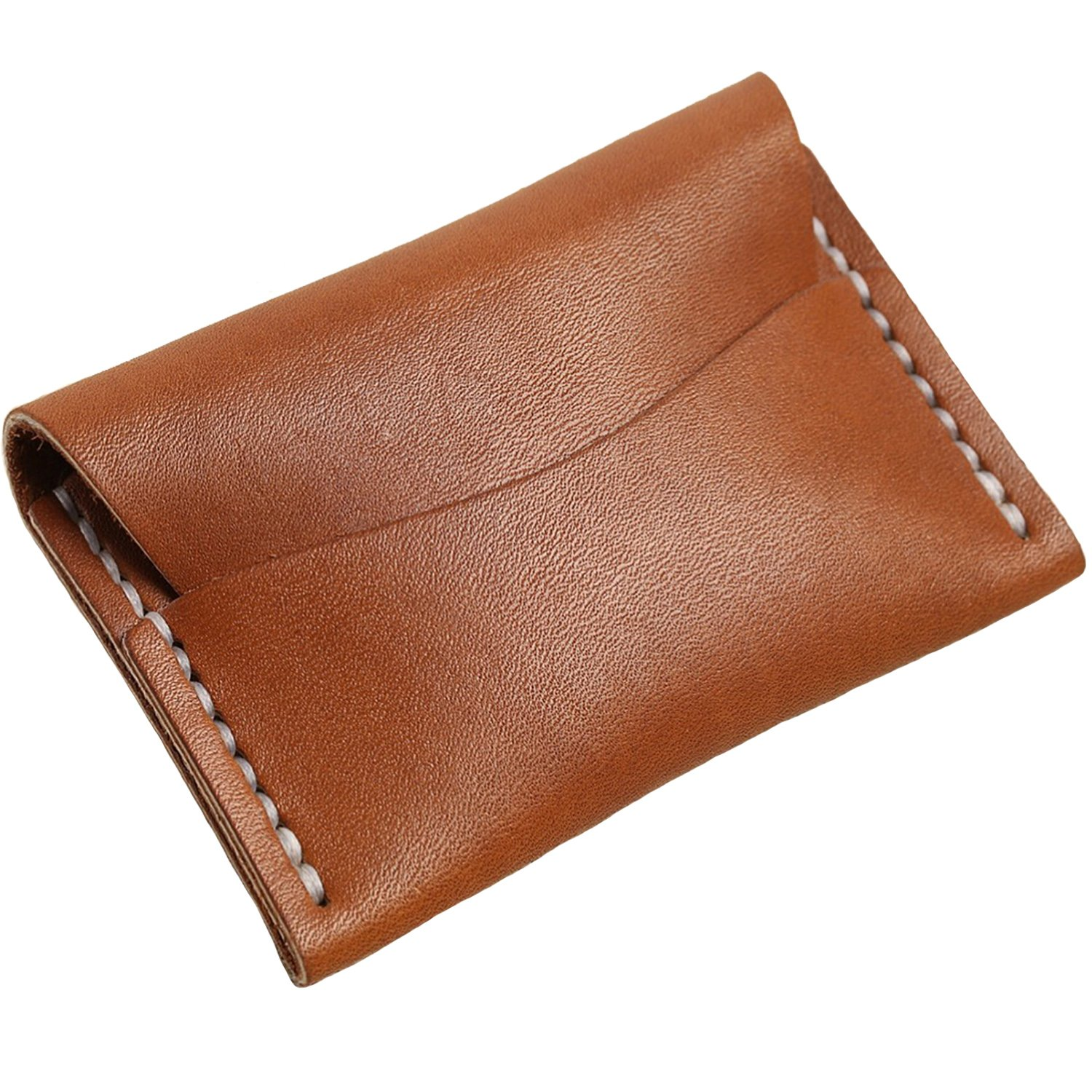 best service 77eff f565d Faler Brand Minimalist Card Case - Minimalist Horween Leather Fold Credit  Card Wallet (Tan Latigo Horween)